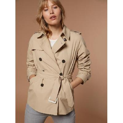 Trench court femme sable