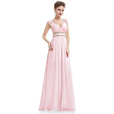 Ever-Pretty Robe de Soiree Robe de Ceremonie Maxi Elegante Col V 46 Rose EP08697PK14