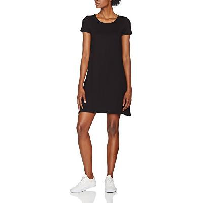 ONLY NOS Onlbera Back Lace Up S/s Dress JRS Noos Robe, Noir (Black), 42 (Taille Fabricant: Large) Fe