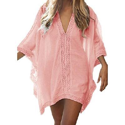 1b8a3c8612355 Walant Robe de Plage pour Femmes V-Cou Bikini Cache-Maillots Taille Unique  Coton