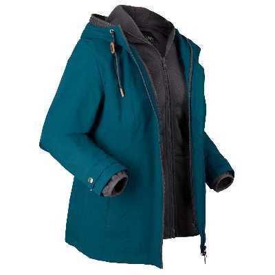 Veste fonctionnelle 3 en 1, veste intérieure en maille polaire