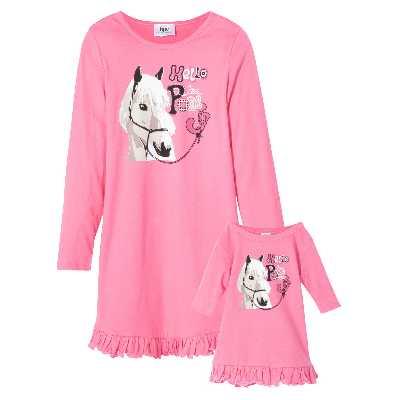 Chemise de nuit + chemise de nuit de poupée (Ens. 2 pces.)