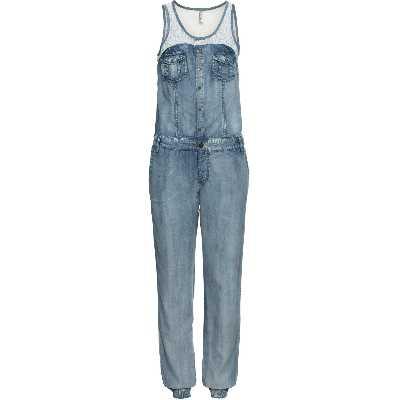 Combinaison en jean avec dentelle