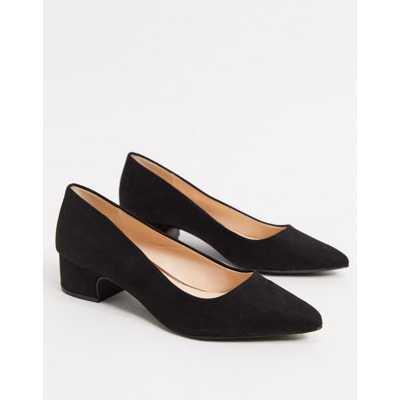 Qupid- Chaussures pointues à talon mi-haut - Noir