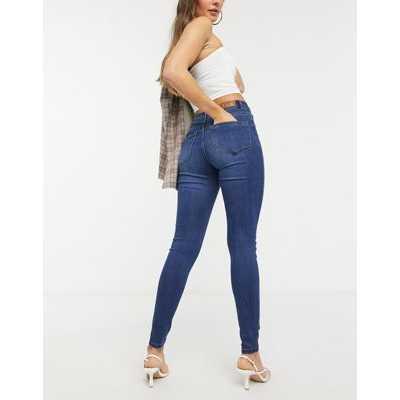 Vero Moda - Tanya - Jean skinny taille mi-haute - Jean bleu foncé