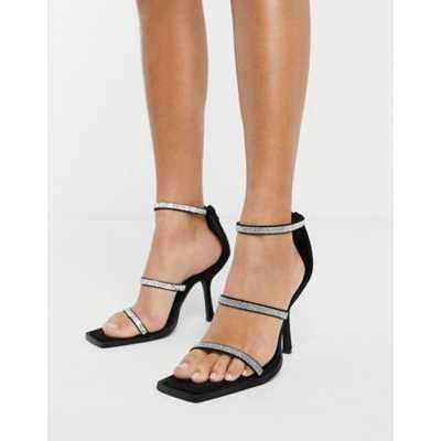 NA-KD - Chaussures à talon et à brides fantaisie - Noir