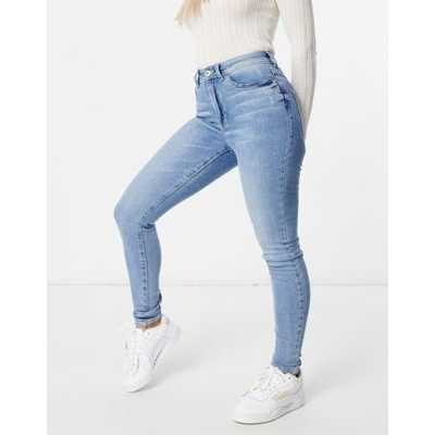 JDY - Jona - Jean skinny taille haute - Bleu jean clair