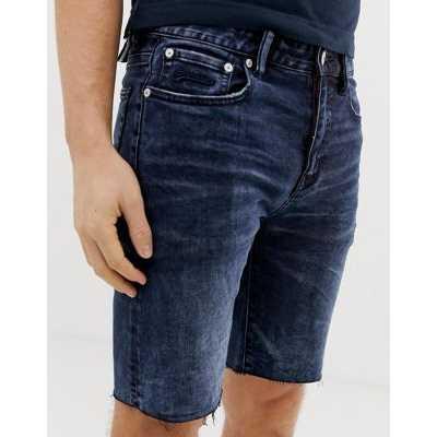Superdry - Short slim en jean - Jean foncé-Bleu