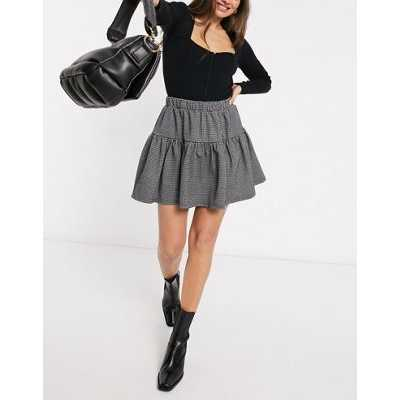 Y.A.S - Mini-jupe à étages et mini motif pied-de-poule (ensemble)-Multicolore