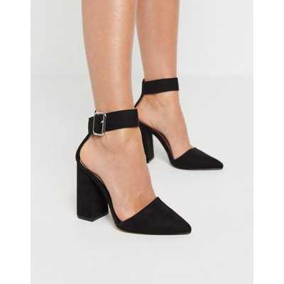 Qupid - Chaussures à talon carré - Noir