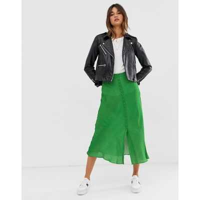 Whistles - Mini-jupe boutonnée à mini pois-Vert