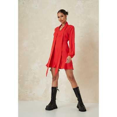Robe Rouge à Nœud Petite