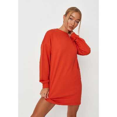 Robe sweat rouge basique