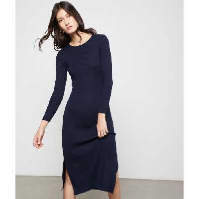 Robe pull dos ouvert - SOHAL PULL - S - Bleu - Femme - Etam