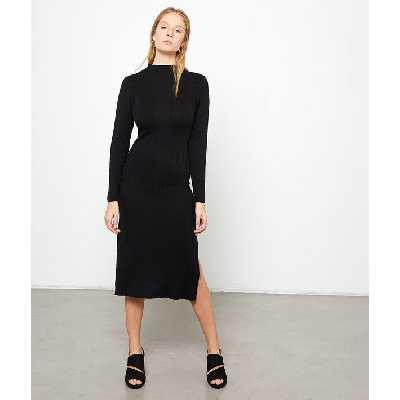 Robe pull côtelée - FILIE PULL - M - Noir - Femme - Etam
