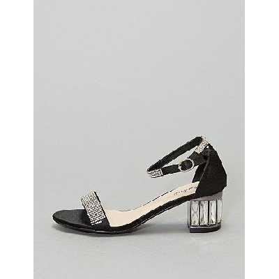 Sandales à talons à strass