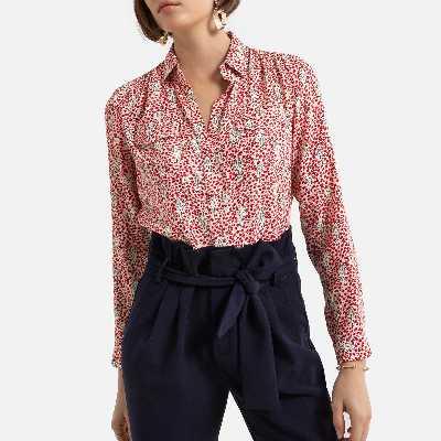 Chemise à motifs, col chemise manches longues