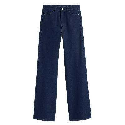 Jean large, taille haute