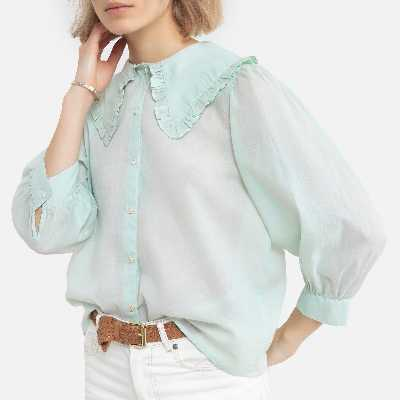 Blouse col claudine, manches courtes MILADY BLOUSE