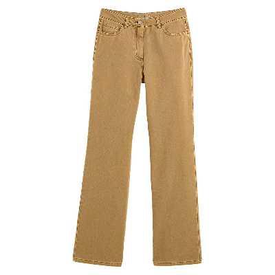 Pantalon large, taille haute