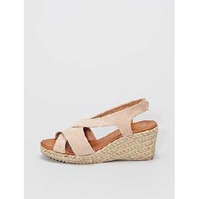 Sandales en suédine