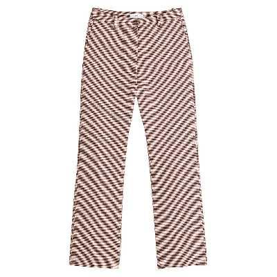 Pantalon bootcut taille haute, à carreaux