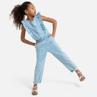 Combinaison en jean léger 3-12 ans