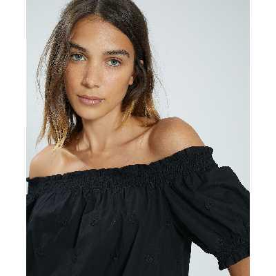 Blouse brodée Femme - Couleur noir - Taille XS - PIMKIE - MODE FEMME