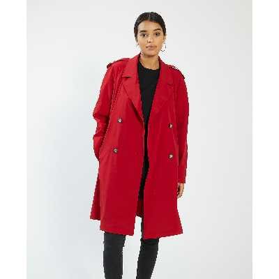 Trench long Femme - Couleur rouge - Taille XS - PIMKIE - MODE FEMME