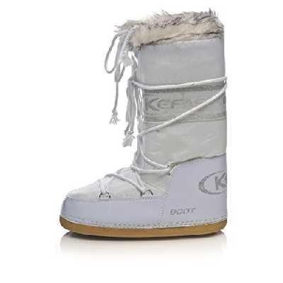 Kefas - Husky Glitter - Apres Ski Femme Blanc 35-37 EU