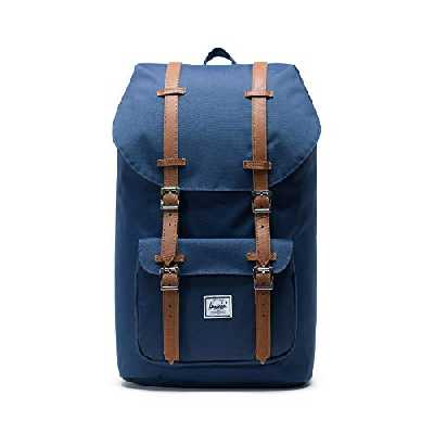 Herschel America Backpack, Navy/Tan Synthetic Leather Backpack, Einheitsgröße, 10014-Navy-One Size