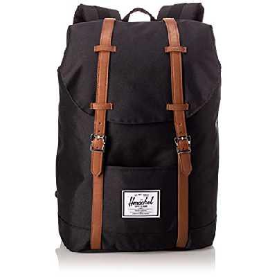 Herschel 10066-00001 Retreat Classics sac à dos unisexe, noir / beige, taille unique