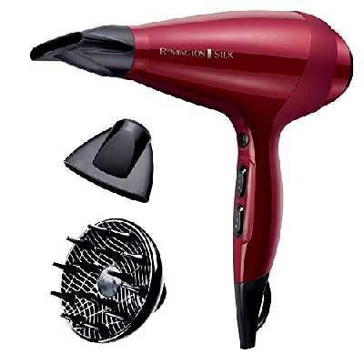 Remington Sèche-Cheveux Ionique 2400W, Grille Céramique, Moteur AC Professionnel, Fonction Turbo - AC9096 Silk