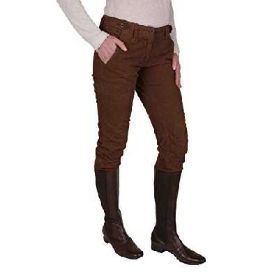 Napapijri - Dames Pantalon Bottes Velours côtelé T. 38-42 - Marron, 40