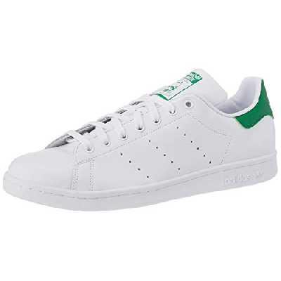 adidas Stan Smith, Baskets Homme, FTWR White/Core White/Green, 39 1/3 EU