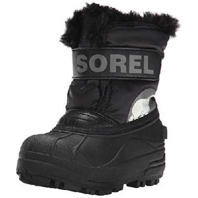 Sorel Bébé Bottes Unisexes, TODDLER SNOW COMMANDER, Noir (Charcoal), Taille 21