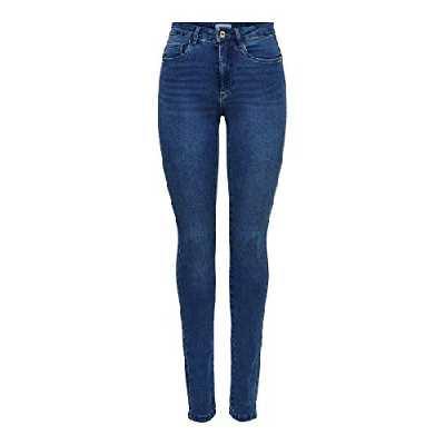 ONLY Onlroyal High Waist Skinny Jeans, Medium Blue Denim, 30 Large Femme