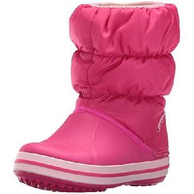 Crocs Winter Puff Boot Kids, Bottes de Neige Mixte Enfant, Rose (Candy Pink) 22/23 EU