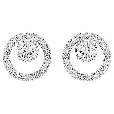 Swarovski Boucles d'oreilles Creativity Circle, blanc, Métal rhodié