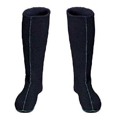 3Kamido® Chaussettes en Feutrine, intérieur pour Waders, pour Bottes de Pluie, Long, pour Femmes et Hommes, Chaussettes chauffantes en Feutrine (44 EU)