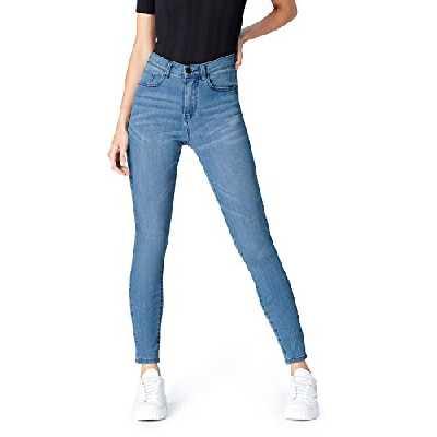 Marque Amazon - find. Jean Skinny Taille Haute Femme, Bleu (Light Wash), XXL