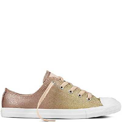 Converse Chuck Taylor CTAS Dainty Ox Synthetic, Chaussures de Fitness Femme, Or (Gold/Particle Beige/White 717), 40 EU