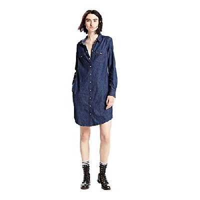 Levi's Ultimate Western Dress Robe, Bleu (Authentic Dark 9), X-Small Femme