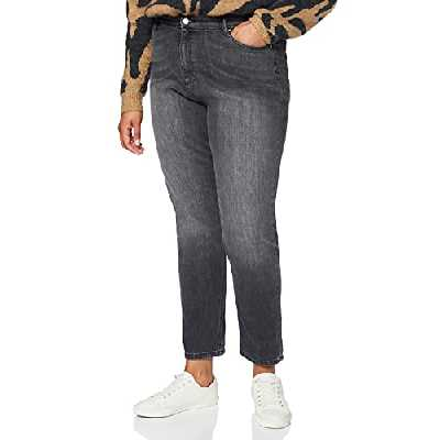 find. Jean Mom Court Taille Haute Femme, Noir (Washed Black), 29W / 32L, Label: 29W / 32L