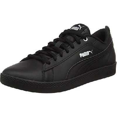 PUMA Smash v2 Leather, Baskets Femme, Black Black, 39 EU