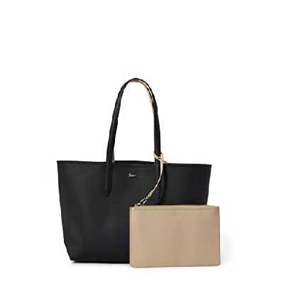 Lacoste Nf2142aa Cabas Femme,Noir (Black Warm Sand),14x30x35 cm (W x H x L)