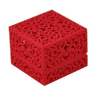 Vorcool Boîte à bijoux en velours pour bague, collier, boucles d'oreilles (rouge)