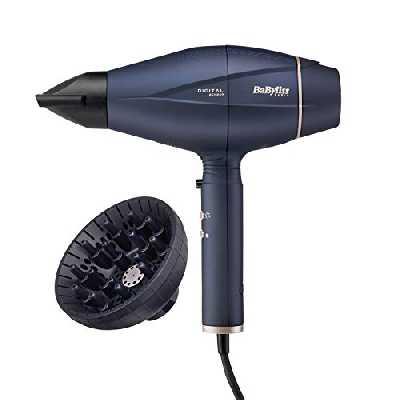 BaByliss Sèche-cheveux Smart Digital Sensor 2100W avec Technologie Ionique et Céramique Fabriqué en Italie 6500FRE