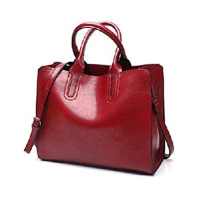 DEERWORD Femme Sacs bandoulière Sacs portés épaule Mode main Petit Cuir Rouge Vineux