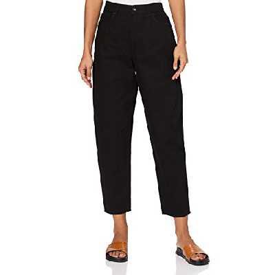 Marque Amazon - find. Jean Coupe Ballon Femme, Noir (Black), 30W / 32L, Label: 30W / 32L